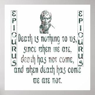 Epicurus Póster