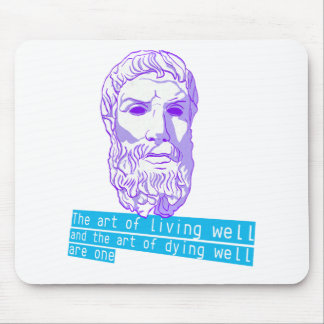 epicurus the art of living mouse pads