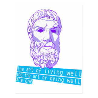 epicurus the art of living postcard