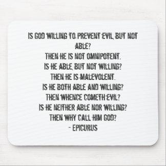 Epicurus' Trilemma Mouse Pad