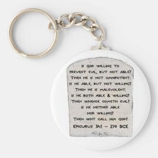 Epicurus - Why call him god? Keychain