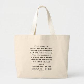 Epicurus - Why call him god? - Plain Tote Bag