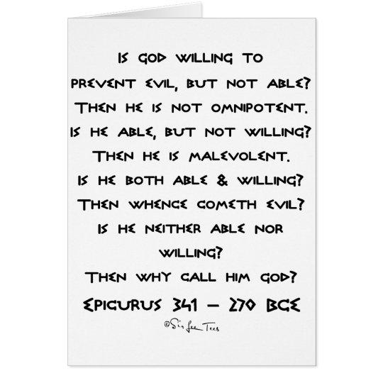 Epicurus - Why call him god? - Plain Card