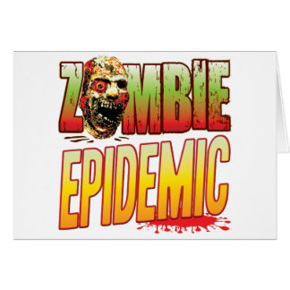 Epidemic Zombie Head Greeting Cards