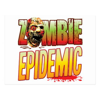 Epidemic Zombie Head Postcard