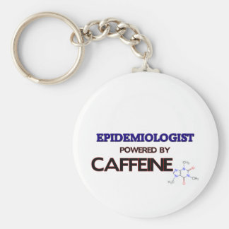 Epidemiólogo accionado por el cafeína llaveros personalizados
