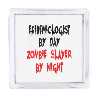 Epidemiólogo del asesino del zombi pins plateados
