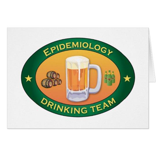Epidemiology Drinking Team Card