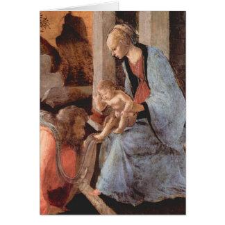 Epifanía por Botticelli Tarjeta