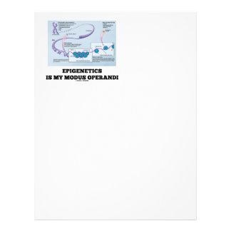 Epigenetics Is My Modus Operandi (Mechanisms) Personalized Letterhead