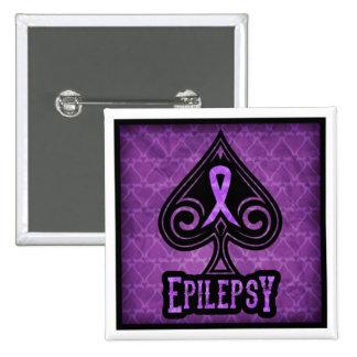 Epilepsia - botón - espadas pin cuadrado
