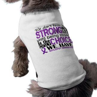 Epilepsia cómo es fuerte somos playera sin mangas para perro