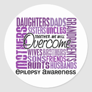 Epilepsia cuadrada de la familia pegatina redonda