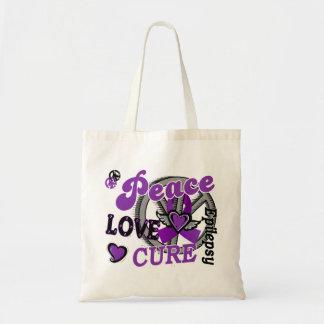 Epilepsia de la curación 2 del amor de la paz bolsas lienzo