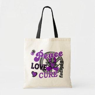 Epilepsia de la curación 2 del amor de la paz bolsas de mano