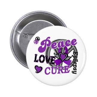 Epilepsia de la curación 2 del amor de la paz pin redondo 5 cm