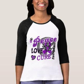 Epilepsia de la curación 2 del amor de la paz camisetas