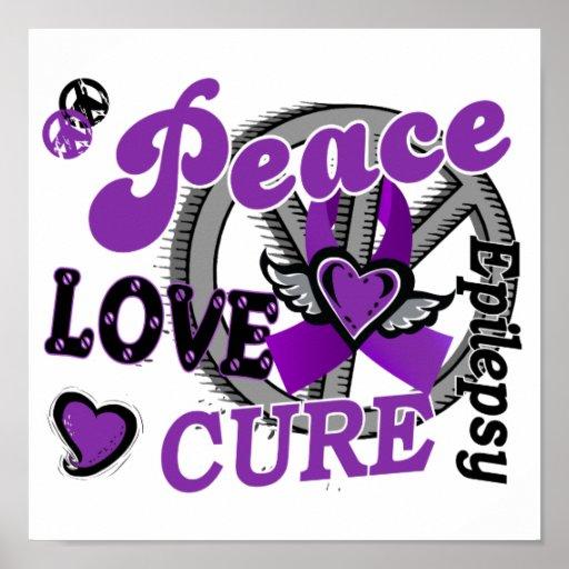 Epilepsia de la curación 2 del amor de la paz póster