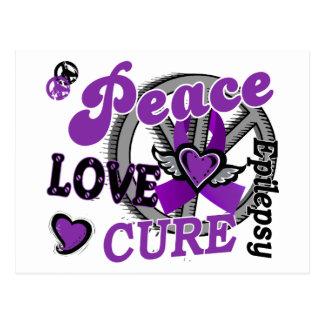 Epilepsia de la curación 2 del amor de la paz tarjetas postales