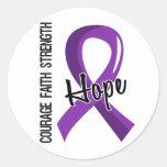 Epilepsia de la esperanza 5 de la fe del valor pegatinas