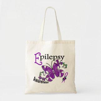 Epilepsia de la mariposa 2 del vitral bolsas lienzo