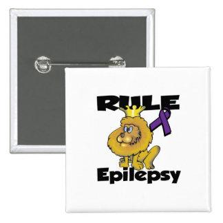 Epilepsia de la regla (púrpura) pin cuadrada 5 cm