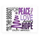 Epilepsia del día de fiesta del navidad de la espe tarjetas postales