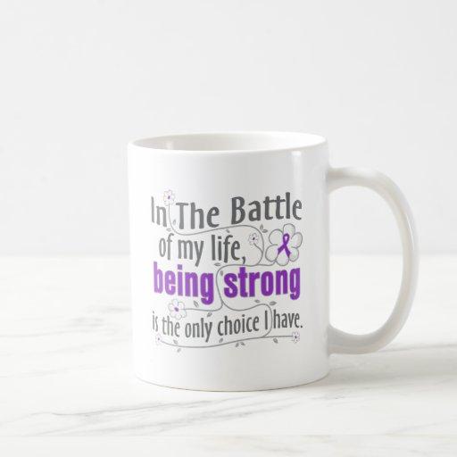 Epilepsia en la batalla taza de café
