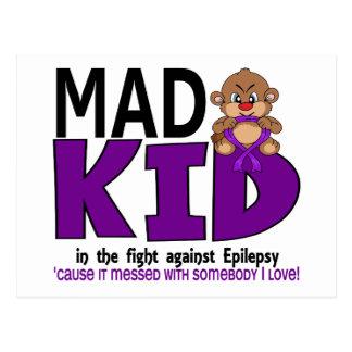 Epilepsia enojada del niño tarjetas postales
