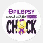 Epilepsia ensuciada con el polluelo incorrecto etiquetas