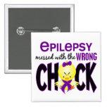 Epilepsia ensuciada con el polluelo incorrecto pin