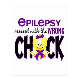 Epilepsia ensuciada con el polluelo incorrecto postales