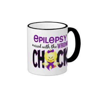Epilepsia ensuciada con el polluelo incorrecto taza de dos colores