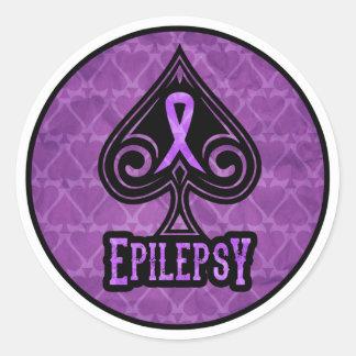 Epilepsia - pegatinas - espadas pegatina redonda