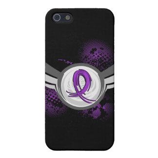 Epilepsia púrpura de la cinta y de las alas iPhone 5 cobertura