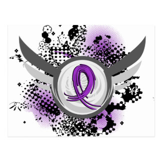 Epilepsia púrpura de la cinta y de las alas tarjeta postal