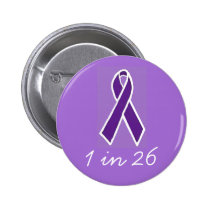 "Epilepsy ""1 in 26"" Button"