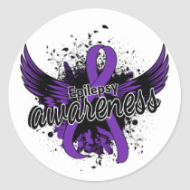 Epilepsy Awareness 16 Classic Round Sticker