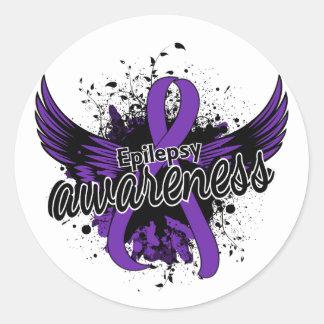Epilepsy Awareness 16 Classic Round Sticker