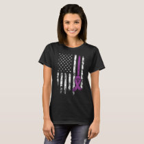 Epilepsy Awareness  American Flag Distressed Tee c