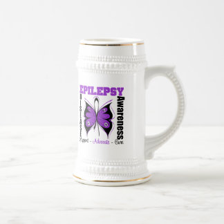 Epilepsy Awareness Butterfly 18 Oz Beer Stein
