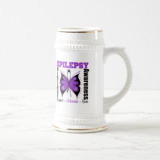 Epilepsy Awareness Butterfly 18 Oz Beer Stein