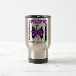 Epilepsy Awareness Butterfly Travel Mug