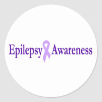 epilepsy awareness classic round sticker