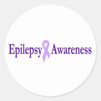 epilepsy awareness classic round sticker