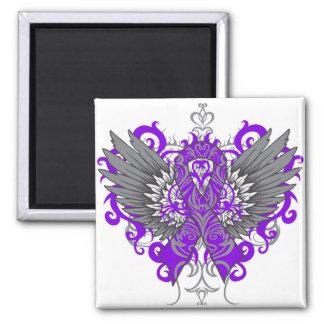 Epilepsy Awareness Cool Wings Refrigerator Magnet
