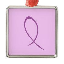 Epilepsy Awareness Customizable Metal Ornament