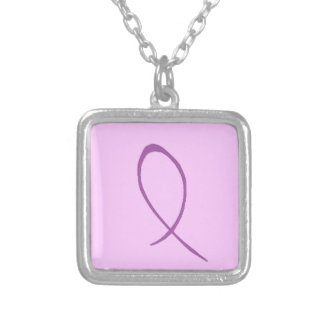 Epilepsy Awareness Customizable Silver Plated Necklace
