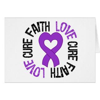 Epilepsy Awareness Faith Love Cure Card