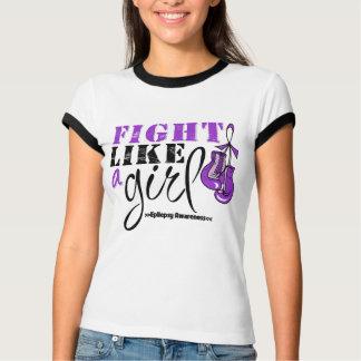 Epilepsy Awareness Fight Like a Girl T-shirt